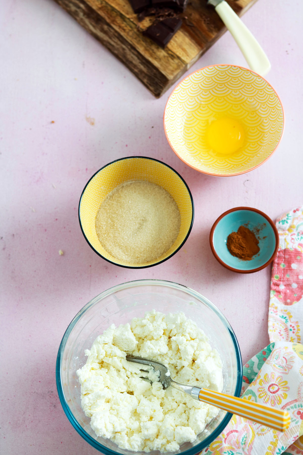 Crostata ricotta e cioccolato-filling ingredients