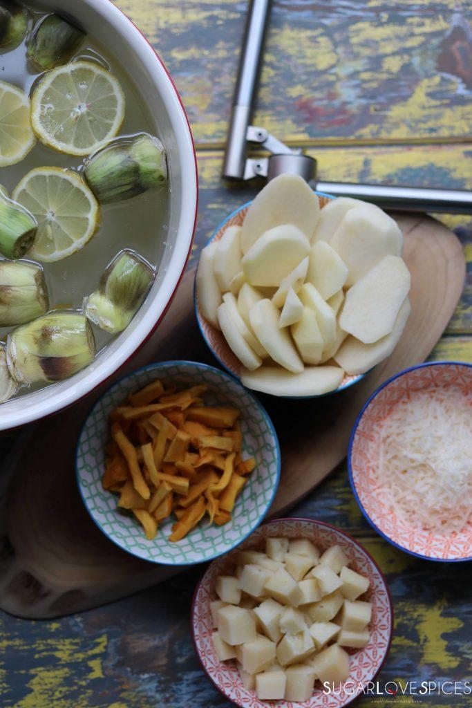 Cheesy Potato and Artichoke Casserole
