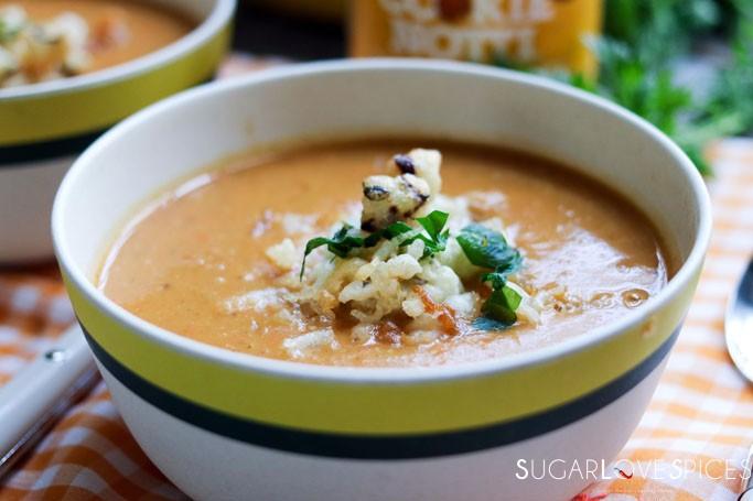 sweet 'n spicy Acorn Squash Soup