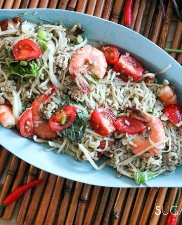 Thai Noodle Shrimp Spicy Salad