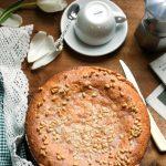 Pinolata, Italian Pine Nut Cake-feature-cake on the table