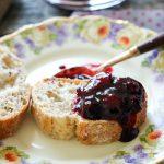 Blackberry Peach Ginger Jam-oozing