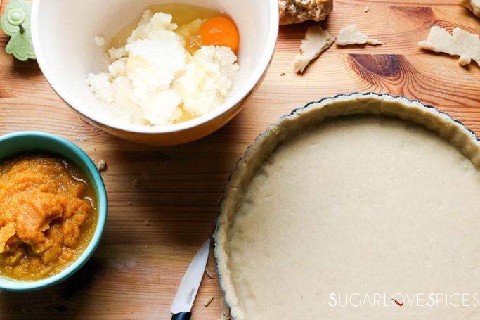 Spiced Roasted Pumpkin Ricotta Crostata
