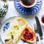 omelette pomme et fromage