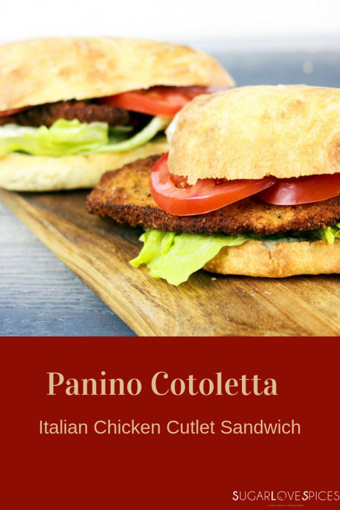 Panino Cotoletta (Italian Chicken Cutlet Sandwich)