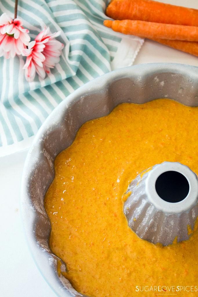 Italian Carrot Bundt Cake (Torta di Carote)-pan-before