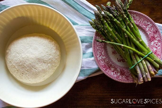 Spring Focaccia with Asparagus