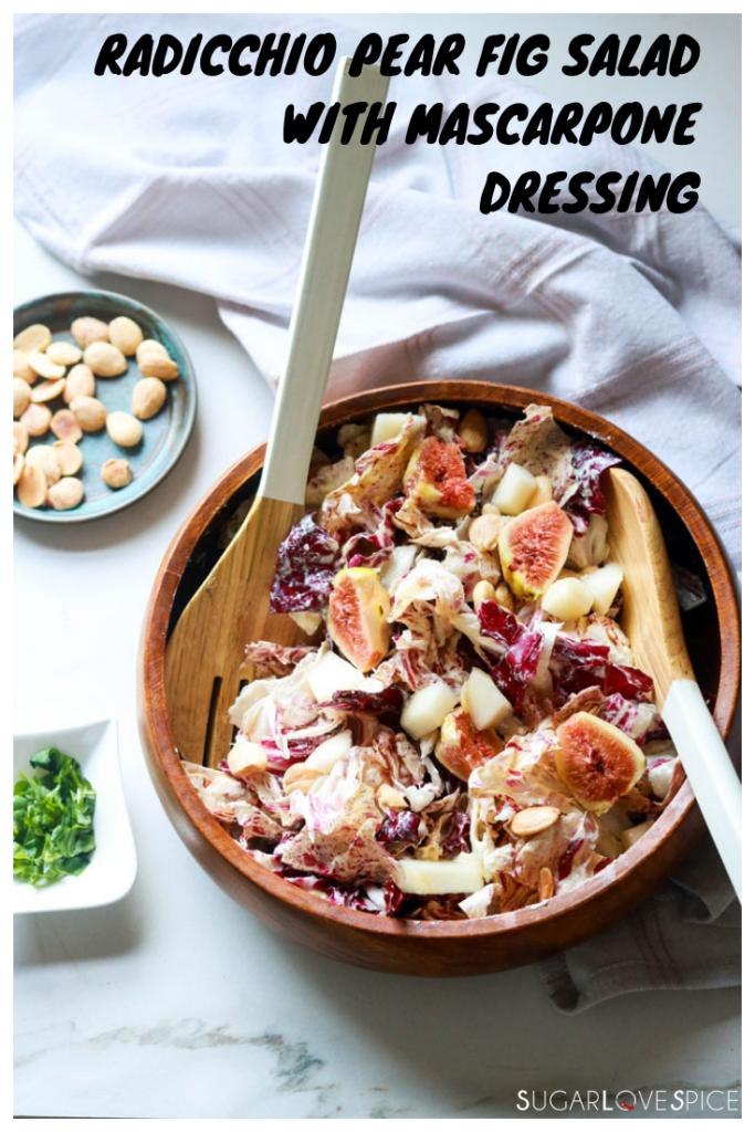 Radicchio Pear Fig Salad with Mascarpone Dressing-name on