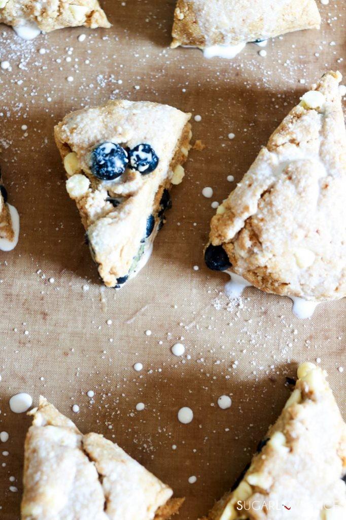 Whole Wheat Blueberry White Chocolate Scones-before baking