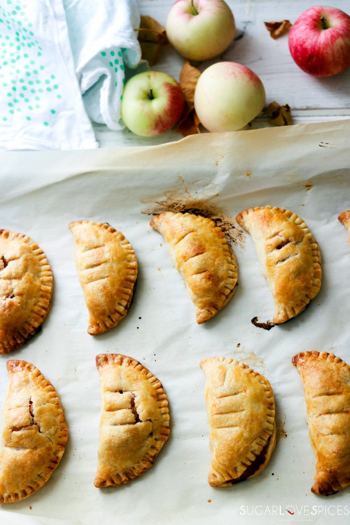 Homemade Apple Hand Pies-out of the oven
