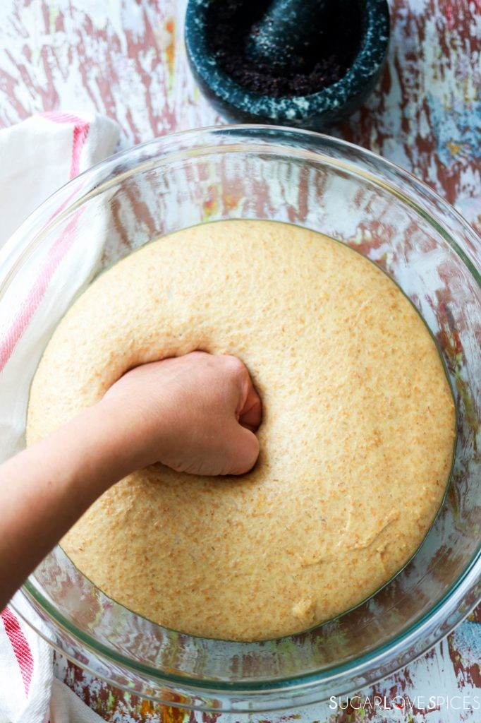 Ukranian Poppy Seed Roll-punching dough