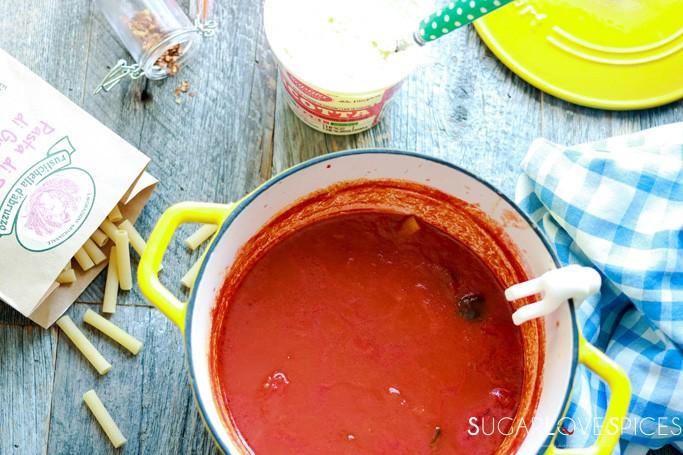 Italian Baked Ziti-the sauce