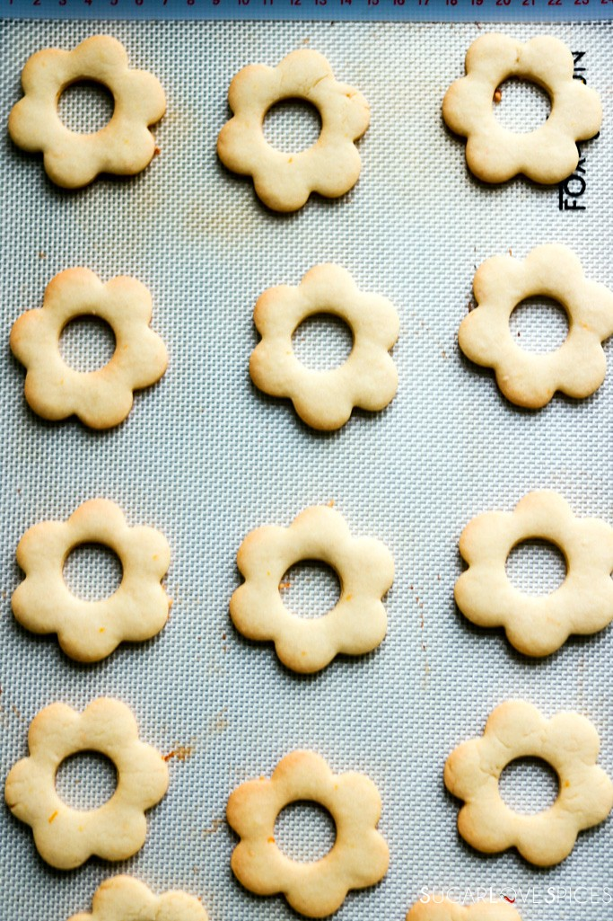 Ciambelline Sarde (Sardinian Sandwich Cookies)-top cookies without icing sugar