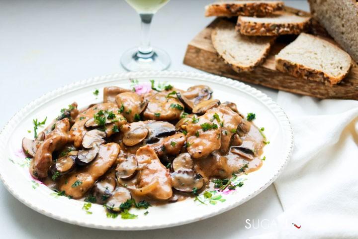 Creamy Chicken and Mushroom Marsala-feature