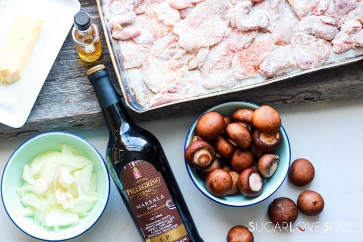 Creamy Chicken and Mushroom Marsala-ingredients