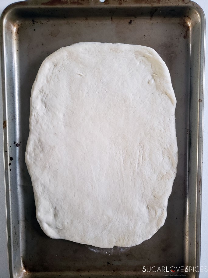 How to make Italian Focaccia Genovese-second stretch