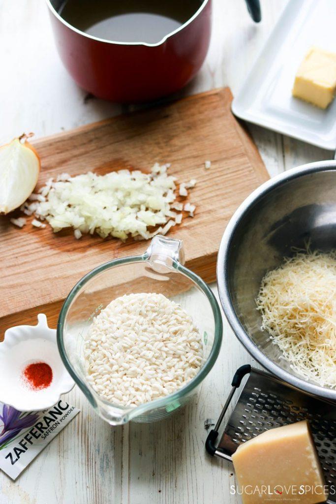 Saffron Risotto-ingredients