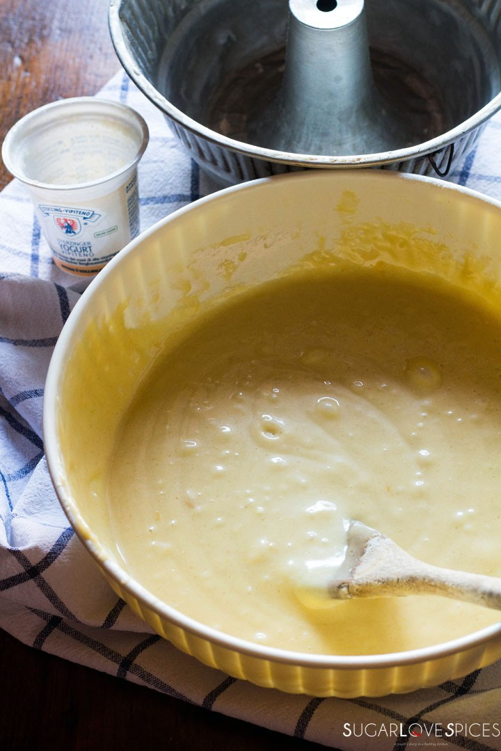 Ciambella allo yogurt (Easy Yogurt Cake)-batter