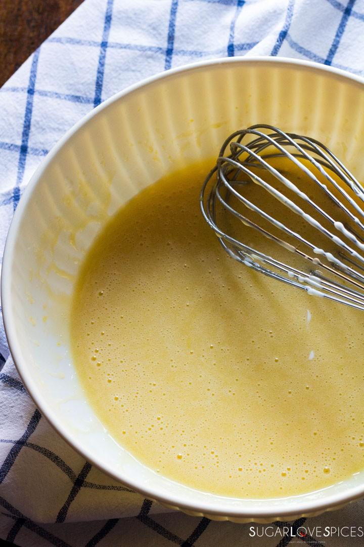 Ciambella allo yogurt (Easy Yogurt Cake)-making the batter