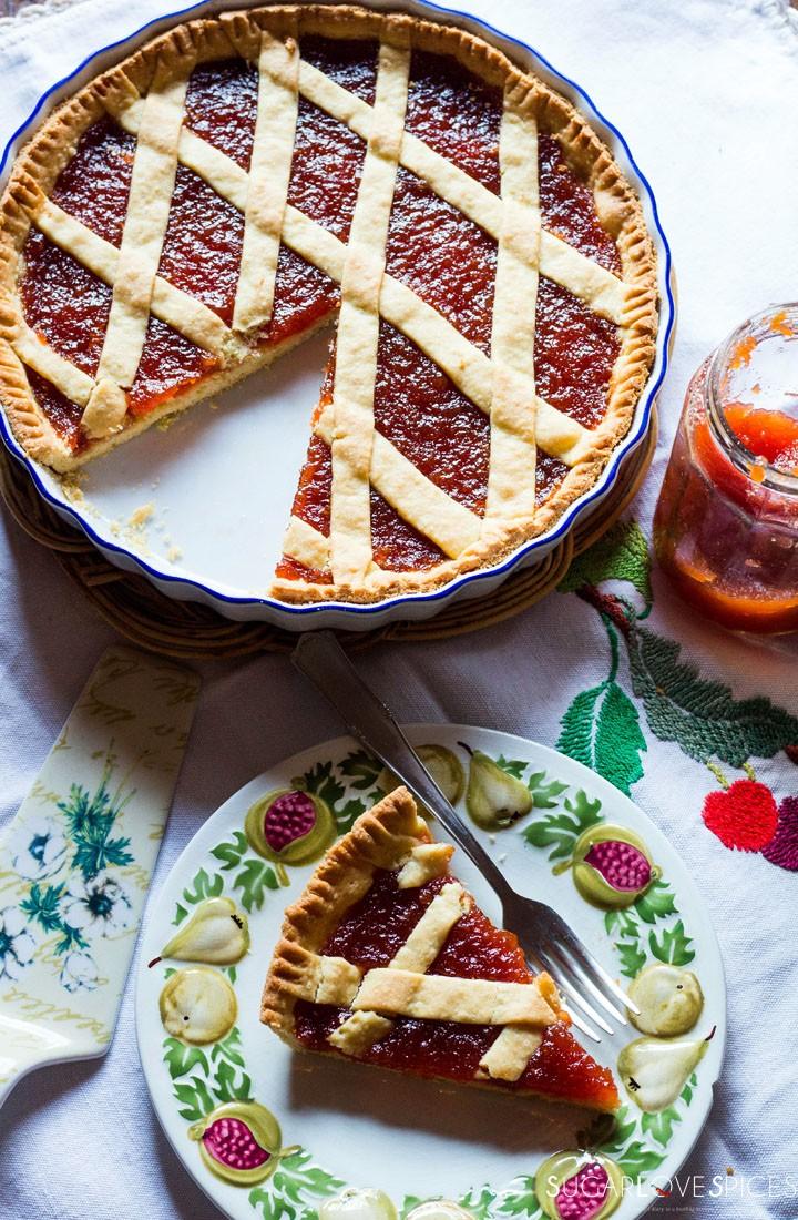 Quince jam tart-one slice