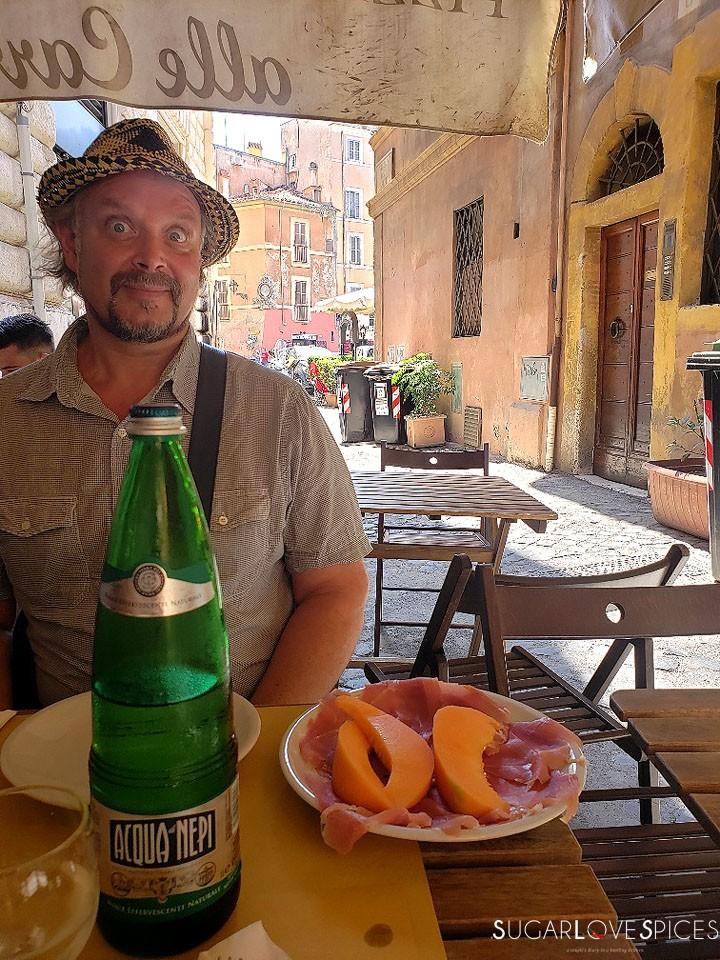 When in Rome, Roma Antica Tour, Loreto and prosciutto e melone