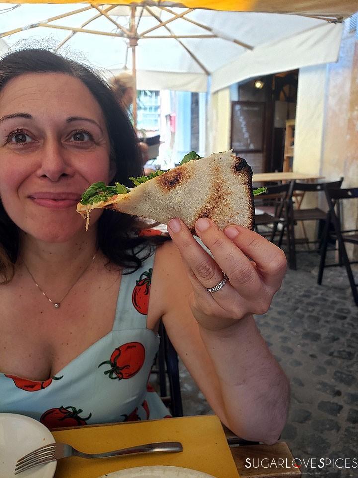 When in Rome, Roma Antica Tour, Nicoletta and pizza