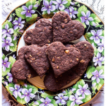 Olive Oil Spelt flour Cookies with Chocolate and Hazelnuts