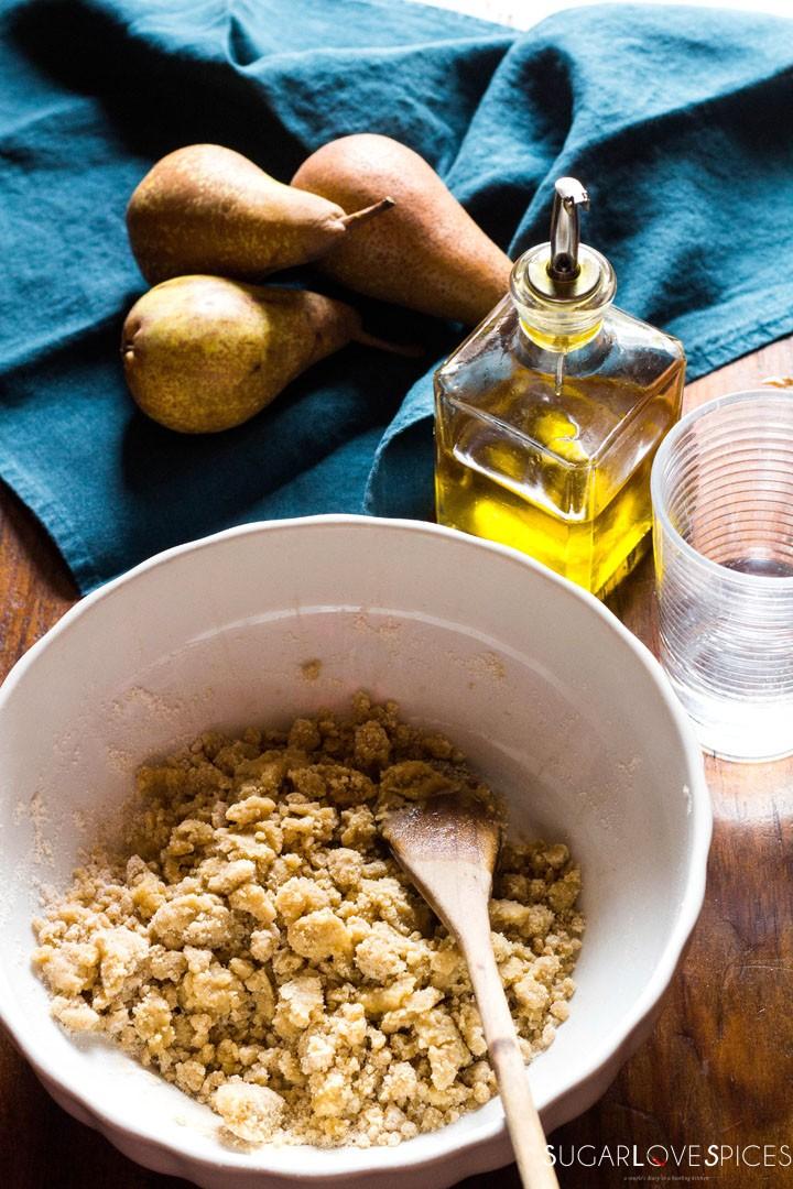Rustic Pear & Hazelnut Vegan Galette-oil