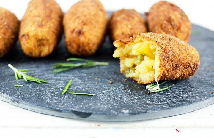 Suppli (Roman Rice Croquettes)-one open