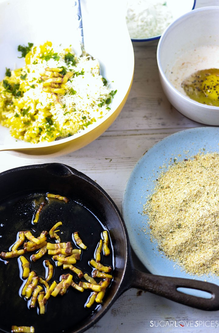 Suppli (Roman Rice Croquettes)-prep