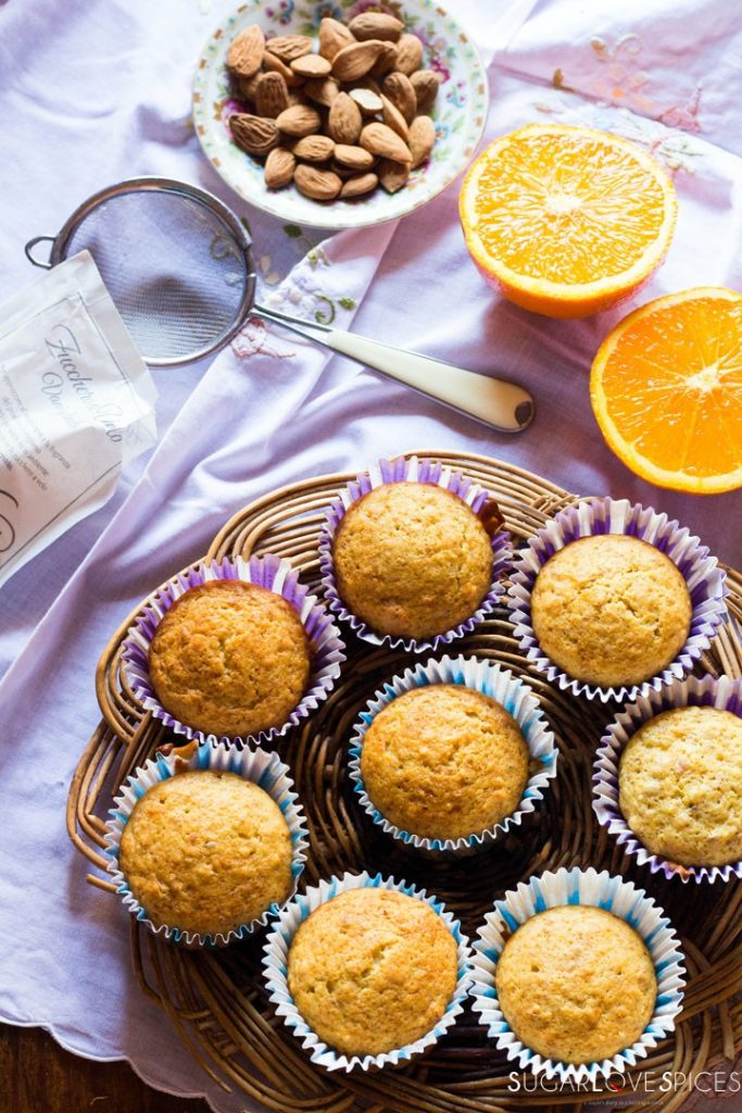 Easy Almond Orange Muffins-muffins and orange