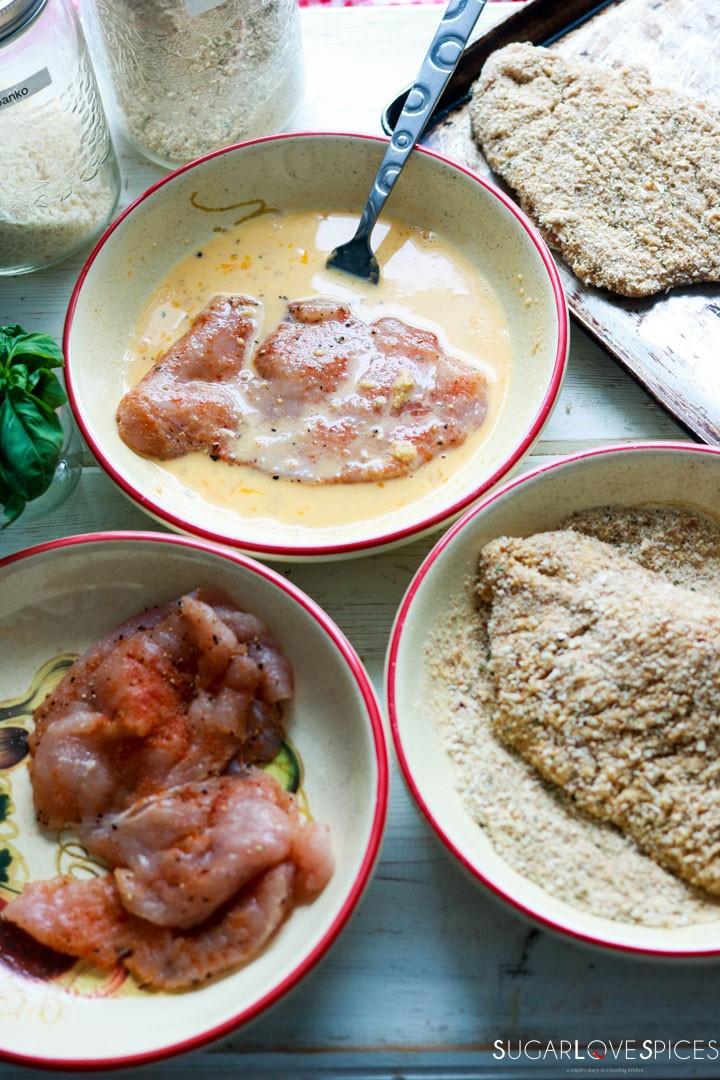 Chicken Parmigiana-dredge
