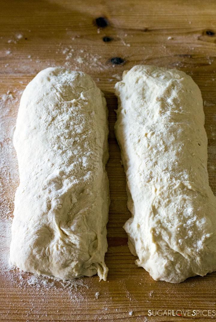 The best Italian Ciabatta Bread Recipe-loaves cut