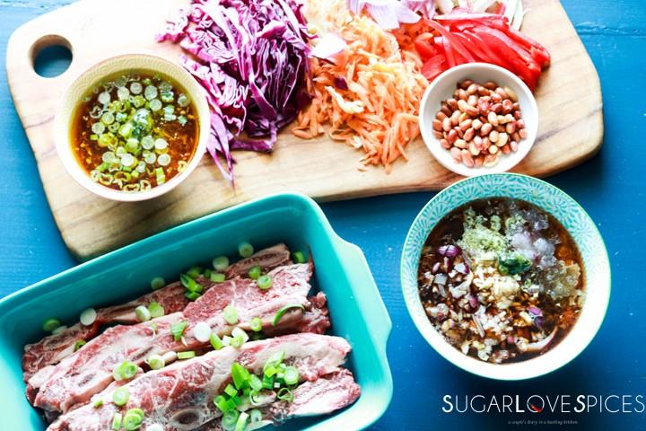 Korean-style Shortribs-ingredients