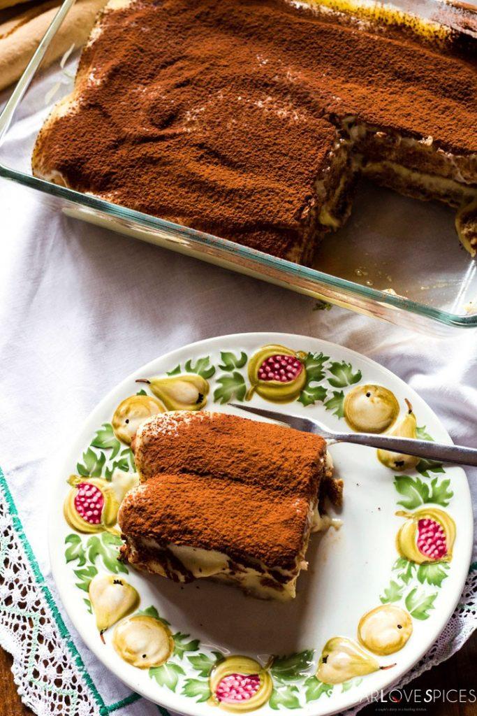 Pastry cream tiramisu