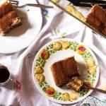 Pastry cream tiramisu-in the dishes