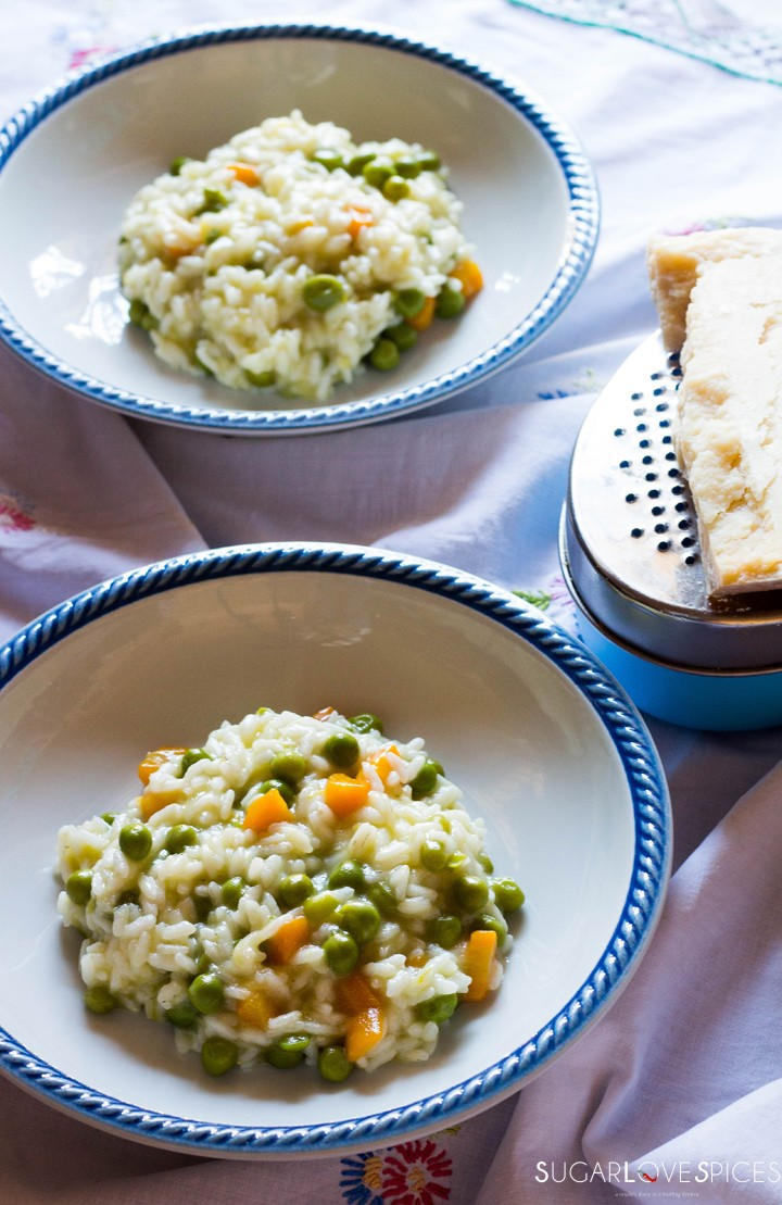 Rice with peas and carrots-two plates