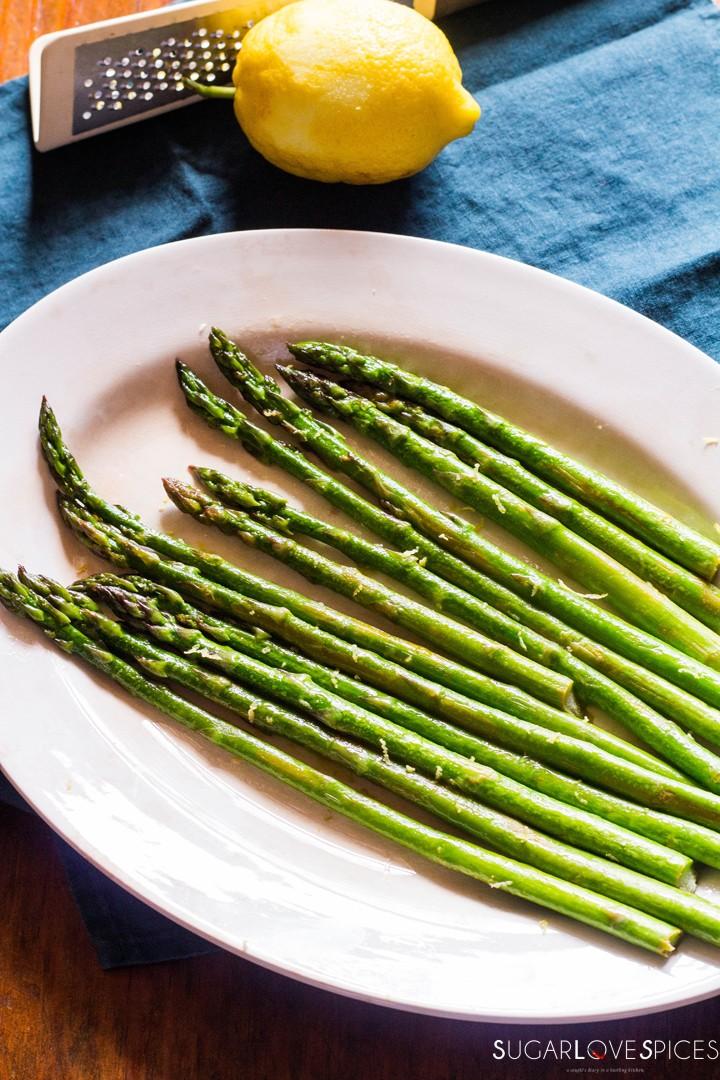 Simple Stove top Lemon Asparagus-lemon