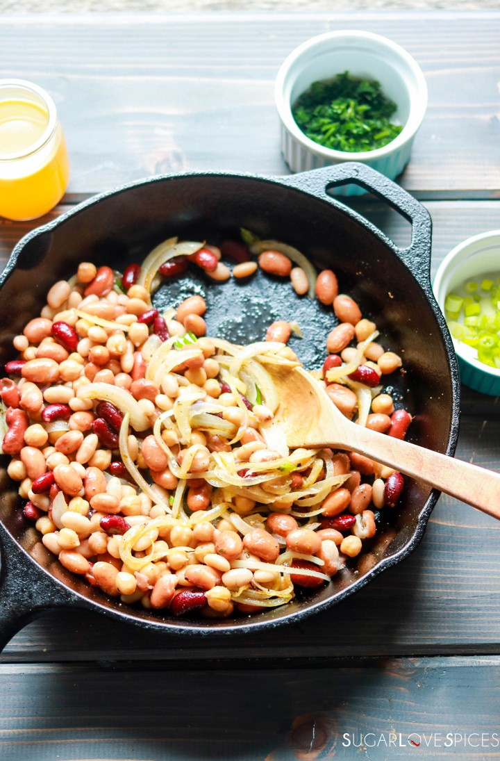 fagioli in umido-beans and onion