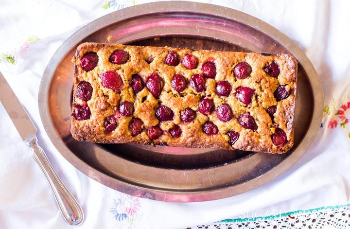 Delicious Cherry Almond Cake-horizontal