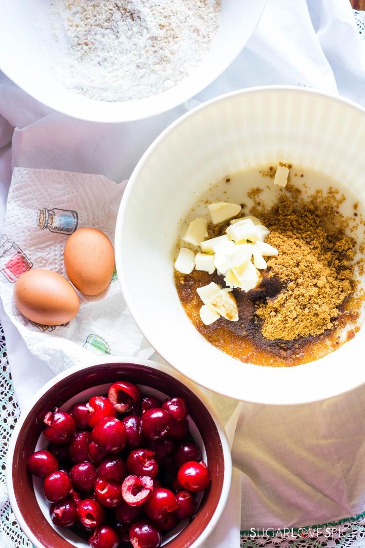 Delicious Cherry Almond Cake-ingredients