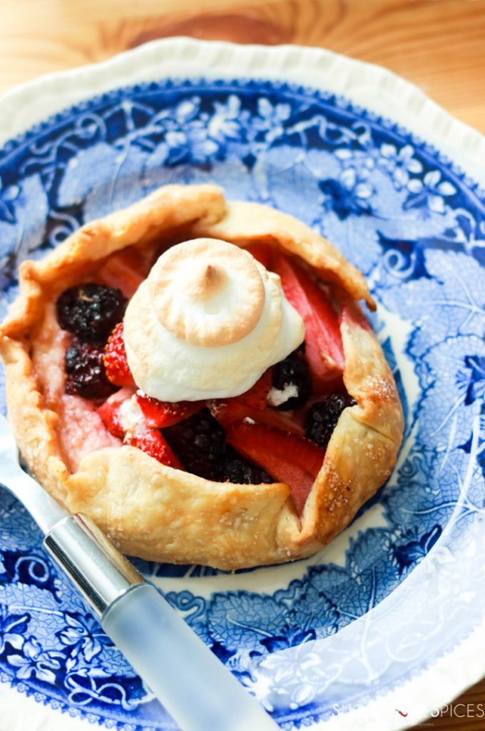 Mixed Berry Lazy Day Pies-from the top