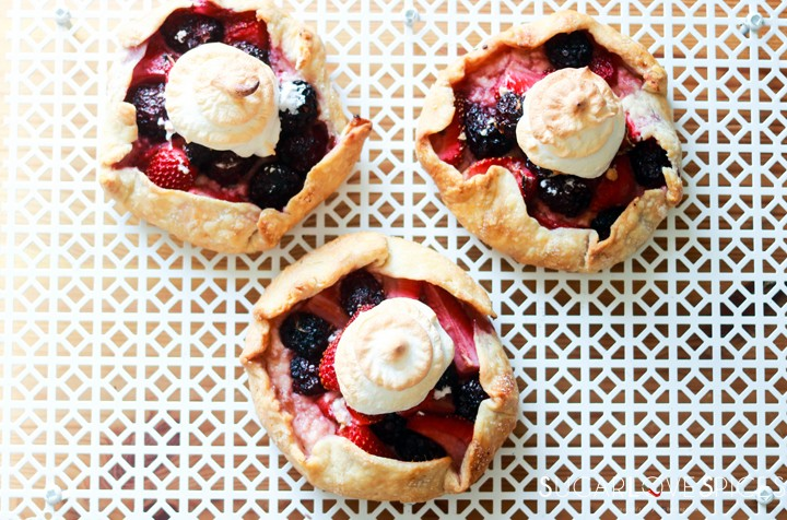 Mixed Berry Lazy Day Pies-view from the top