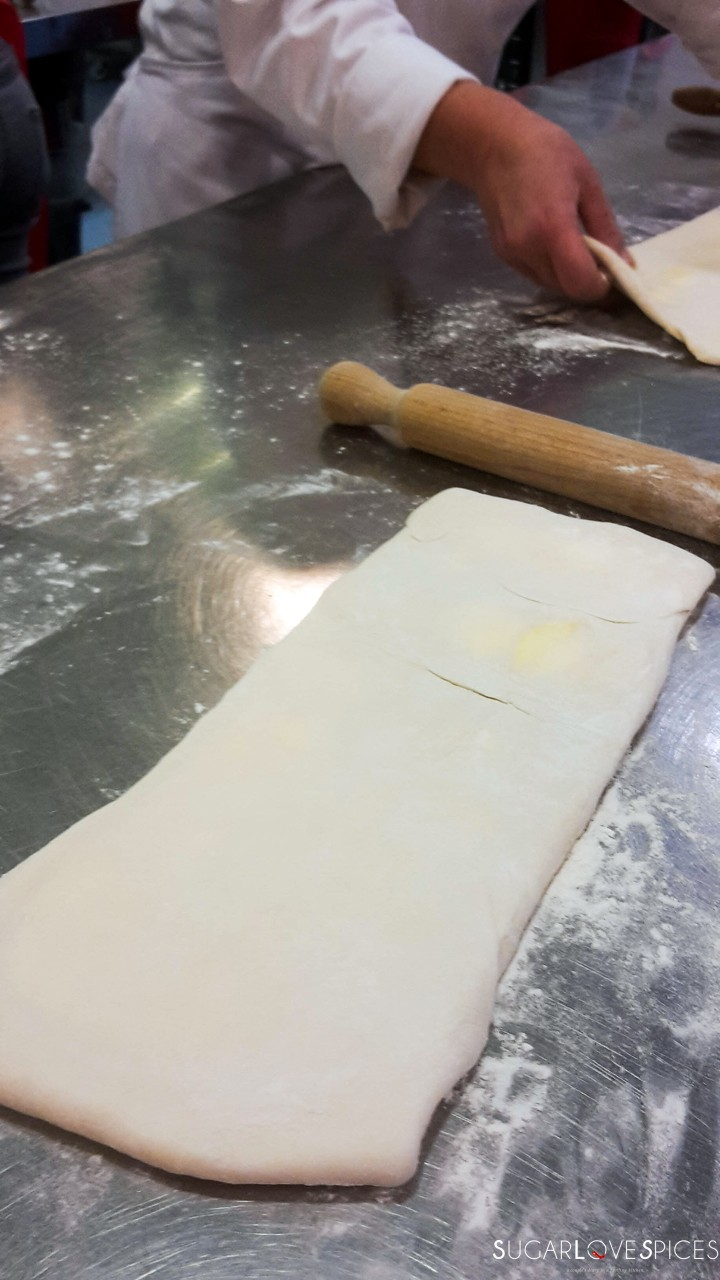 homemade puff pastry-rolled