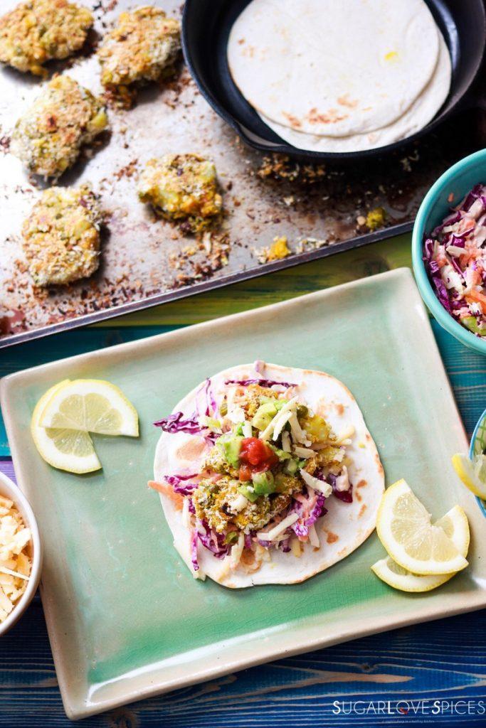 Bean medley Pakora Inspired Tacos-pinterest