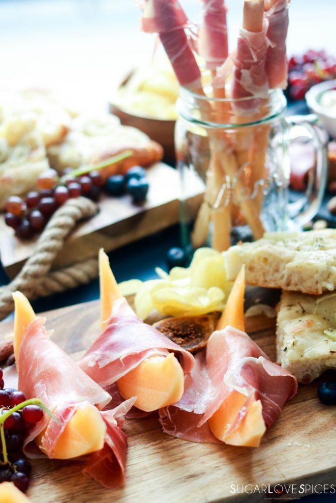 An Antipasto Story featuring Prosciutto-prosciutto e melone board