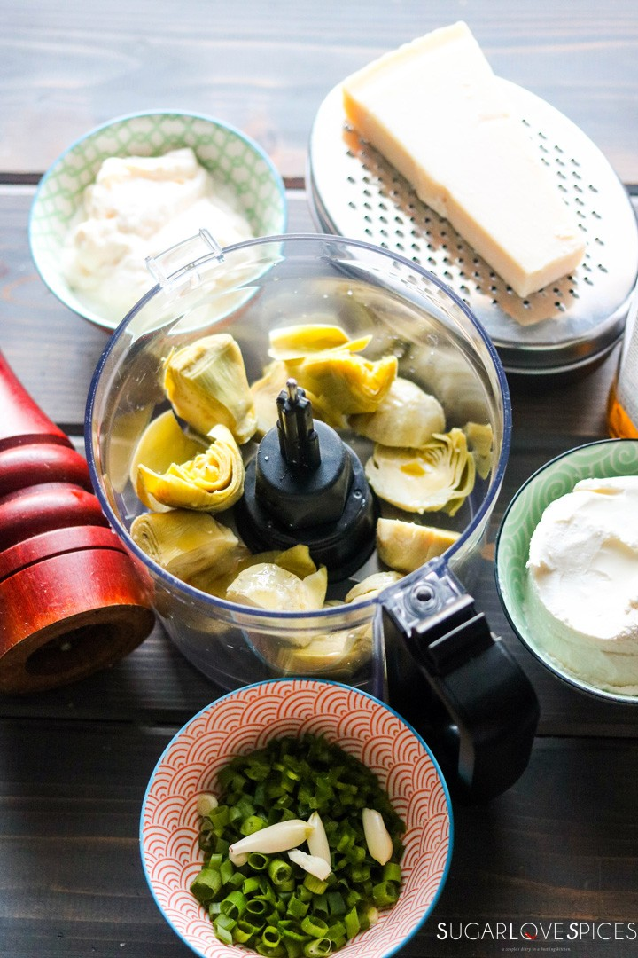 Simply delicious artichoke dip-artichoke in the food processor
