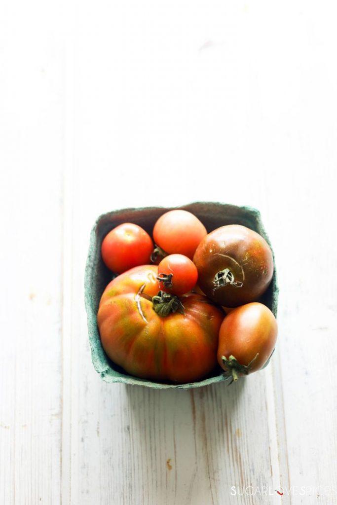 heirloom tomato galette-tomatoes