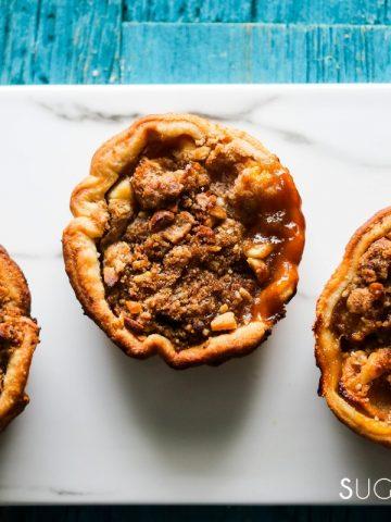Petite Peach Ginger Streusel Pies-feature-closeup