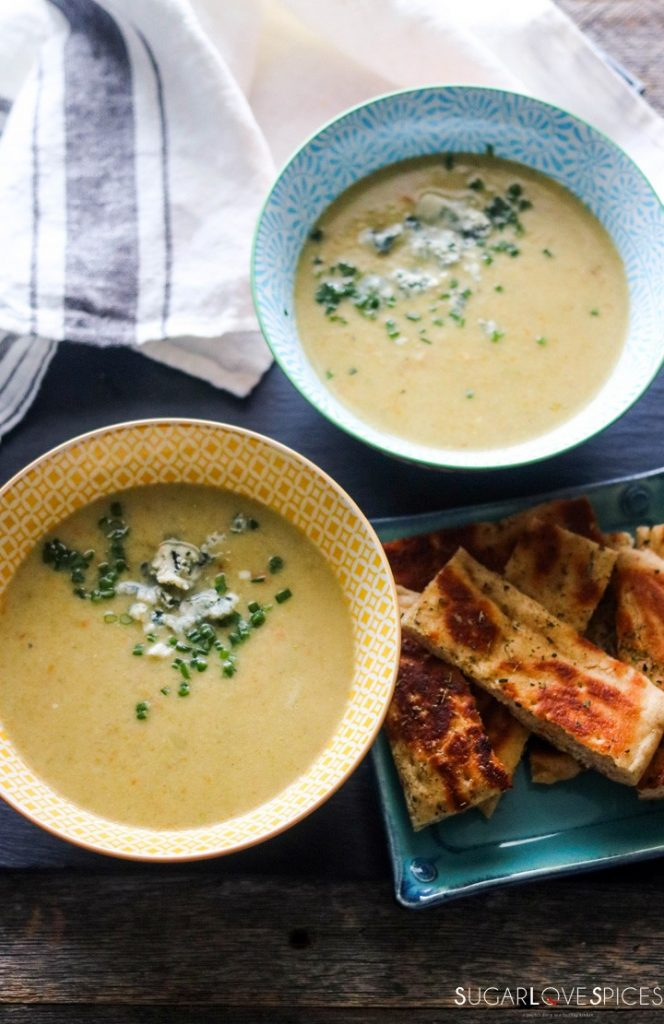 Romanesco broccoli soup-feature-two bowls-from the top
